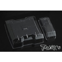 "T-Works 1/10 Lexan Flat Rear Wing With Centre Divider 6.5"" Wide 2pcs"