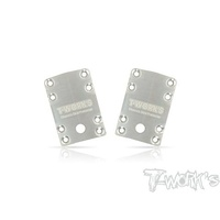 T-works Stainless Steel Front Chassis Skid Protector ( Team Associated RC10 B74 ) 2pcs.
